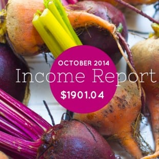 October 2014 Income Report