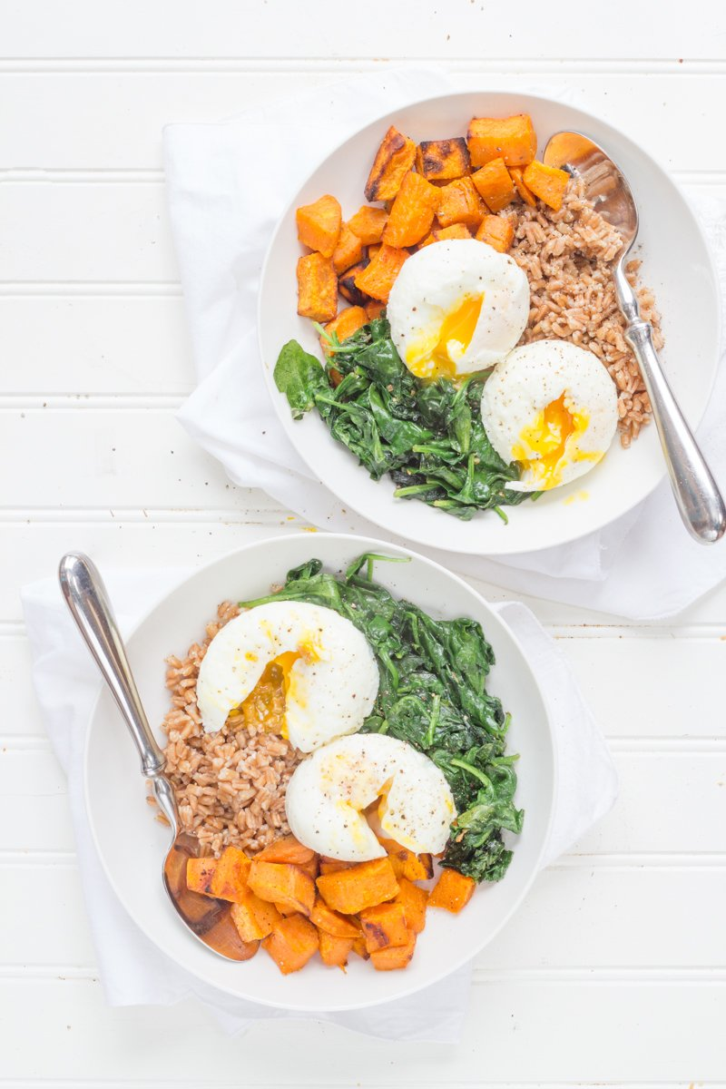 Curried Sweet Potato Breakfast Bowls for Two