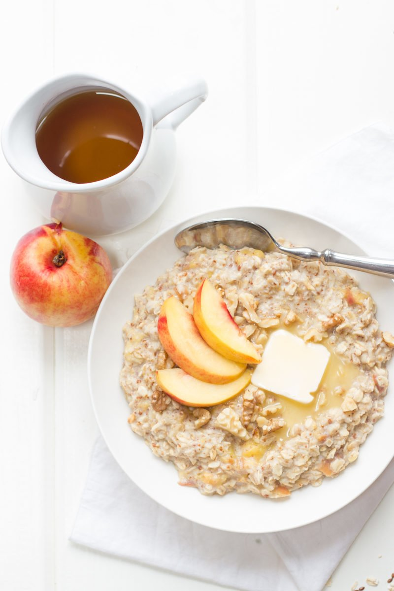 Image result for oatmeal with peach