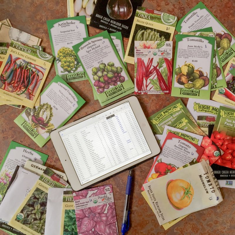 Seed Packets iPad