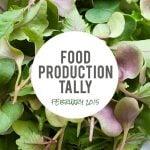 Harvest Tally: February