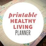 free healthy living printable planner page