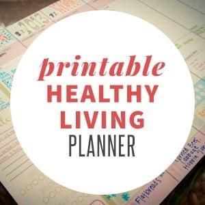 Printable Healthy Living Planner