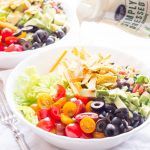 Tortilla Chopped Salad with Black Bean Salsa and Ranch