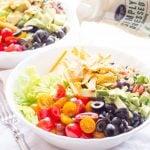 Tortilla Chopped Salad with Black Bean Salsa and Ranch