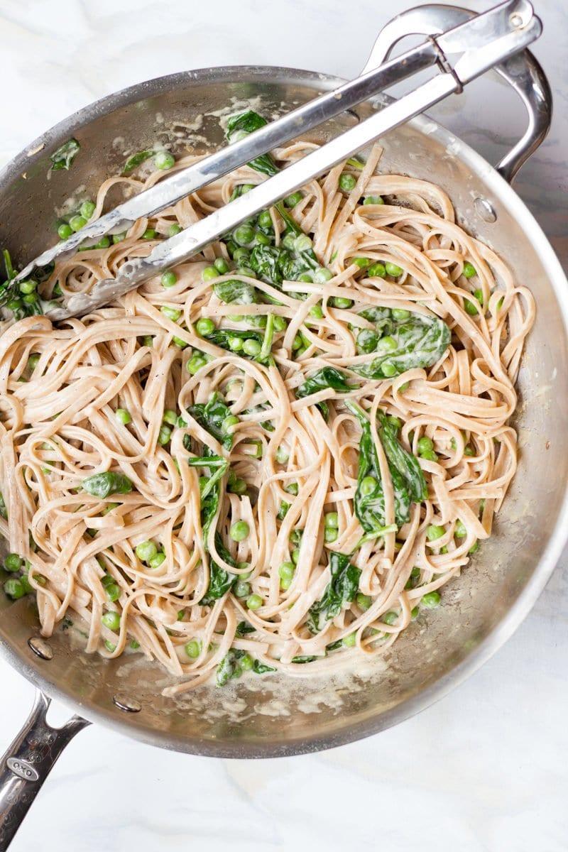 Pea & Spinach Alfredo