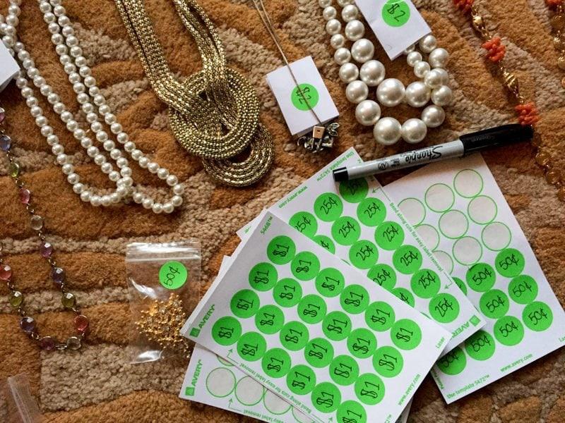 Jewelry Yard Sale
