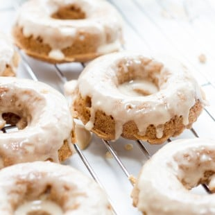 Baked Whole Wheat Apple Butter Donuts