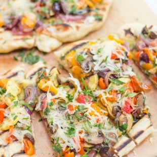Grilled Veggie and Pesto Flatbread