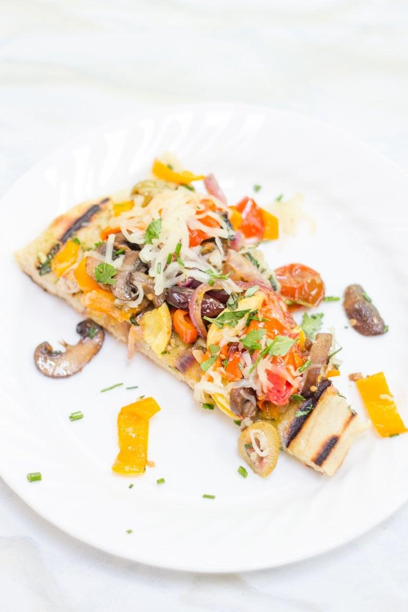 Grilled Veggie and Pesto Flatbreads