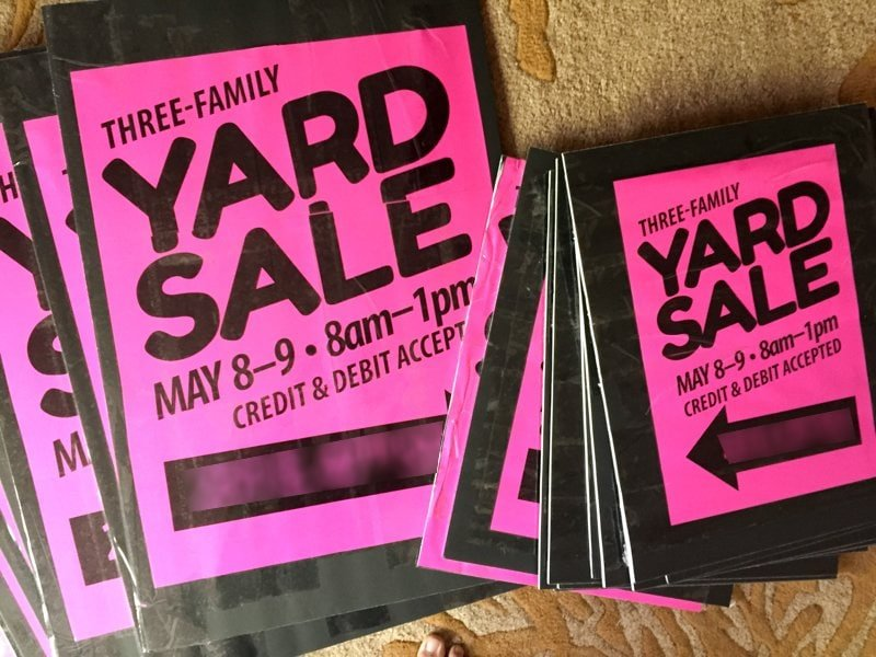 Garage Sale Ideas Organize Part - 16: Yard Sale Signs