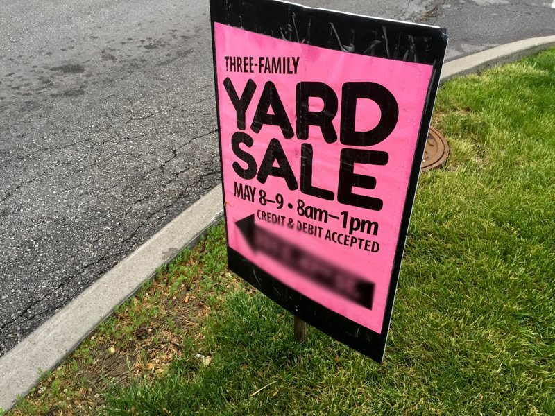 Yard Sale Signs