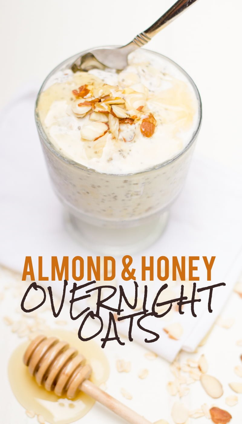 Toasted Almond and Honey Overnight Oats Almond Honey