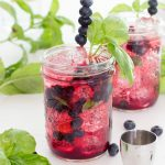 Blueberry Basil Vodka Tonic