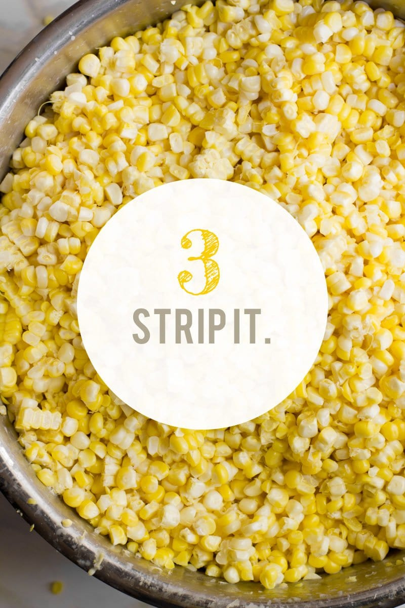 How to Freeze Corn: Strip It