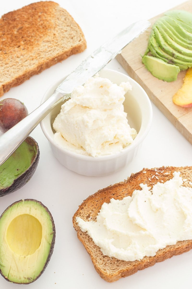 Peach, Whipped Feta, and Avocado Toast