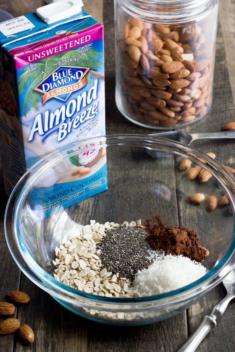 Chocolate Coconut Overnight Oats