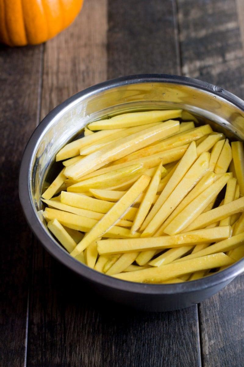Baked Parmesan Pumpkin Fries
