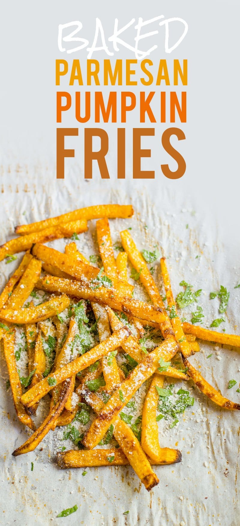 Baked Parmesan Pumpkin Fries