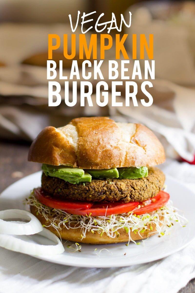Pumpkin Black Bean Burgers