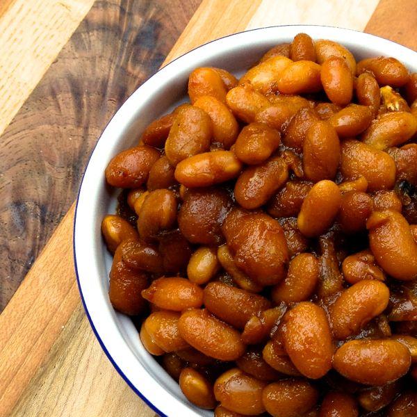 Slow Cooker Vegetarian Boston Baked Beans