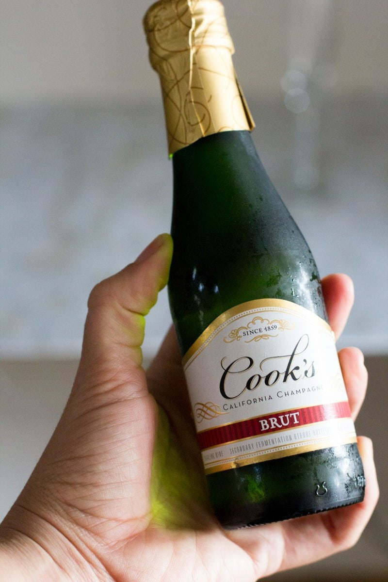 Mini Champagne Bottle