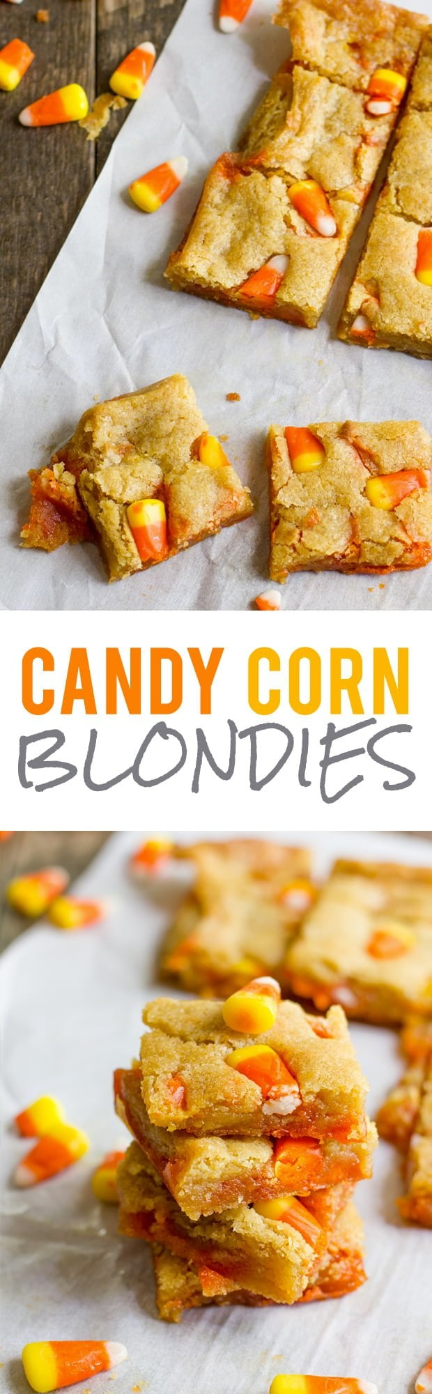 Candy Corn Blondies