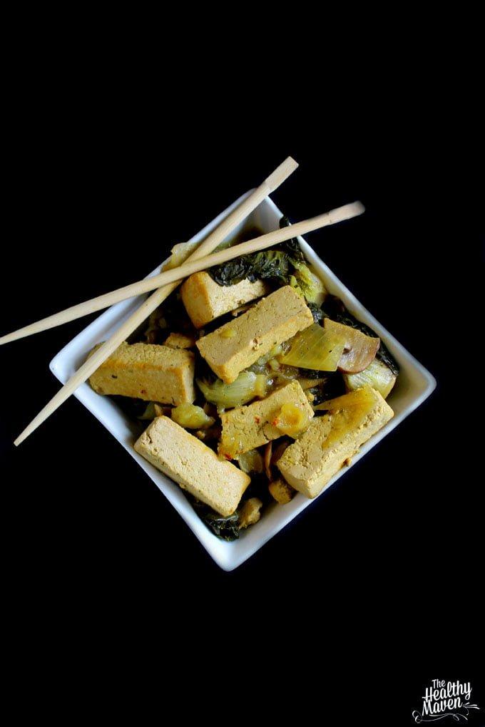 Slow Cooker Coconut Basil Tofu