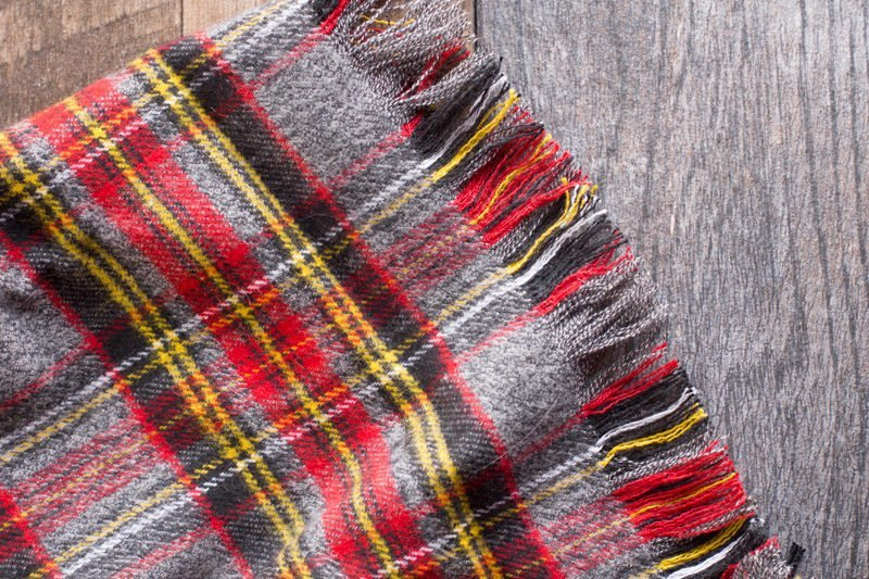 DIY No Sew Flannel Blanket Scarf - Wholefully