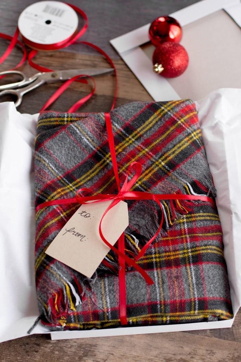 DIY No Sew Flannel Blanket Scarf - Wholefully