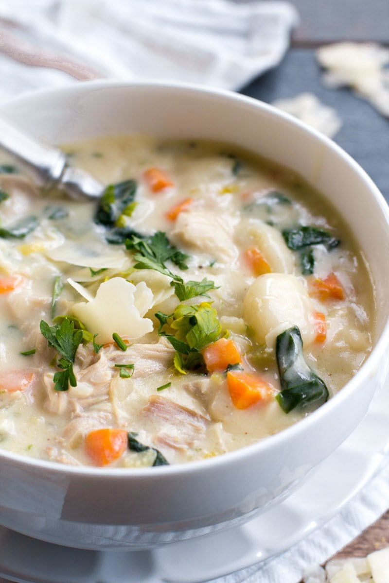 Creamy Turkey Gnocchi Soup