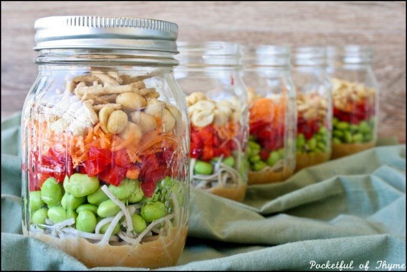 Asian Noodle Jar Salad Pocketful of Thyme