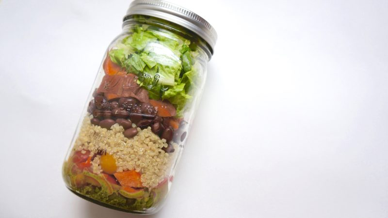 Burrito Bowl Mason Jar Salad Momo Wellness