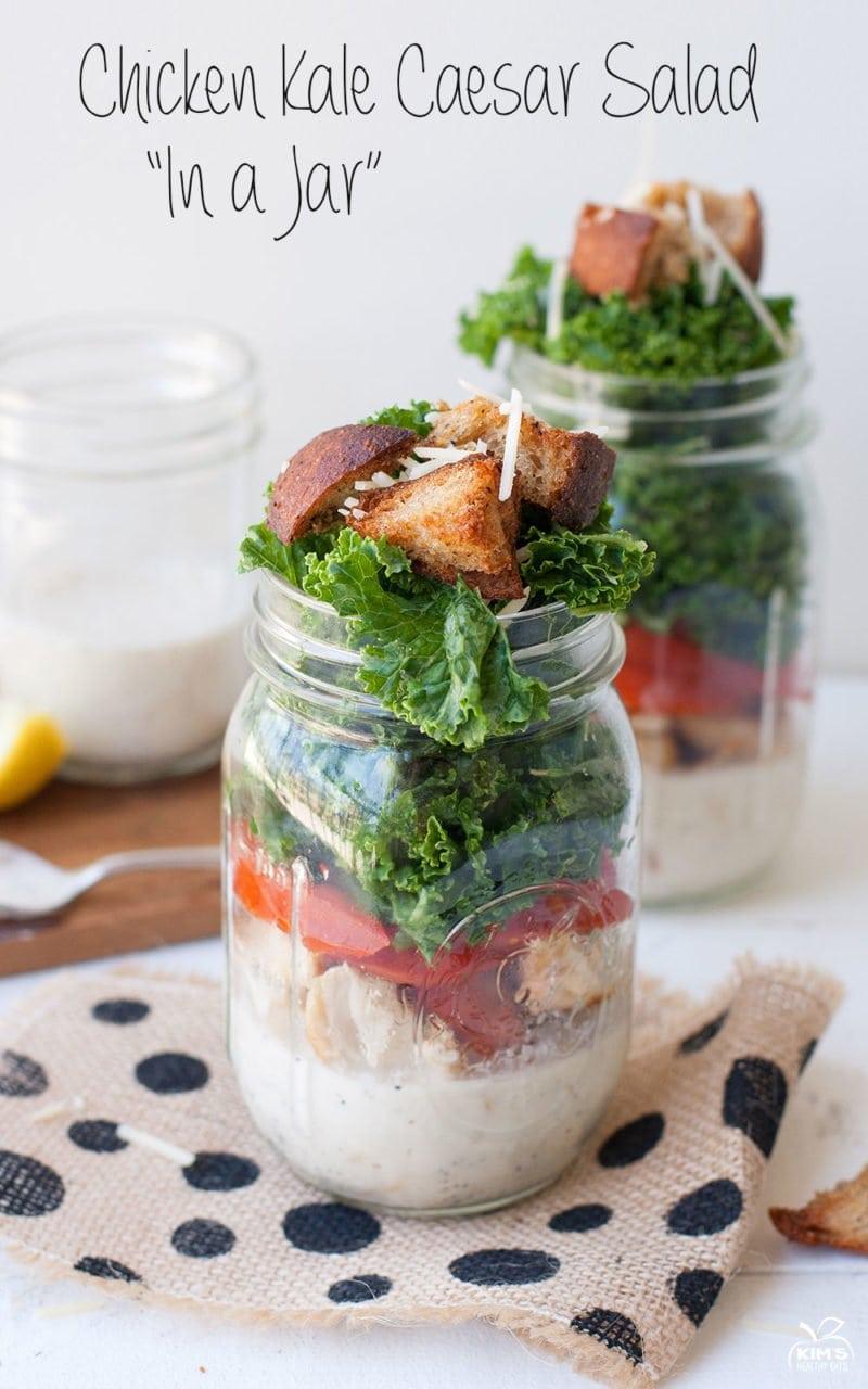 Chicken Kale Caesar Salad Kims Healthy Eats