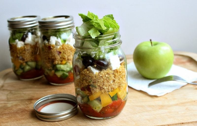 Greek Quinoa Mason Jar Salad Delight and Decorum