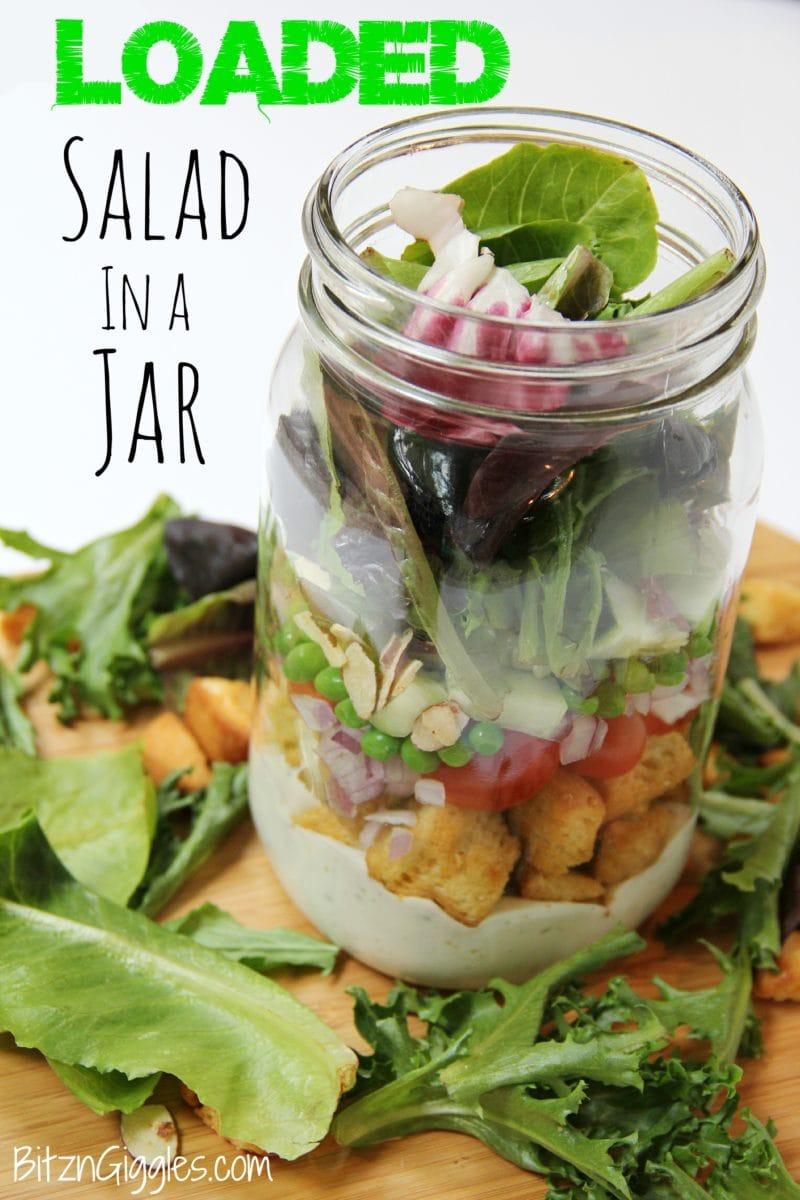 Loaded Salad in a Jar Bitz n Giggles