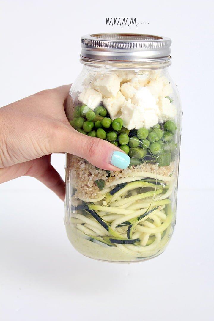 Mason Jar Zucchini Noodle Inspiralized