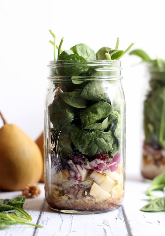 Quinoa Pear Spinach Hummusapien