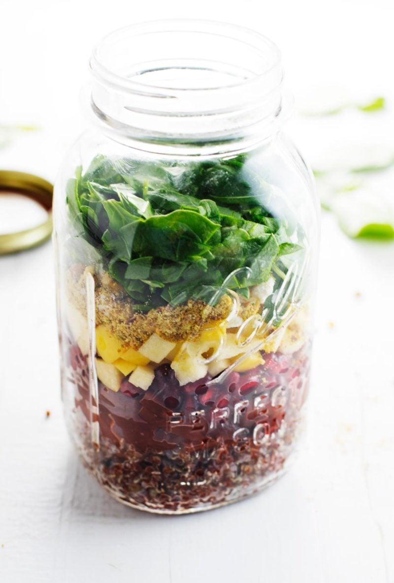 Winter Rainbow Quinoa Salad Pinch of Yum