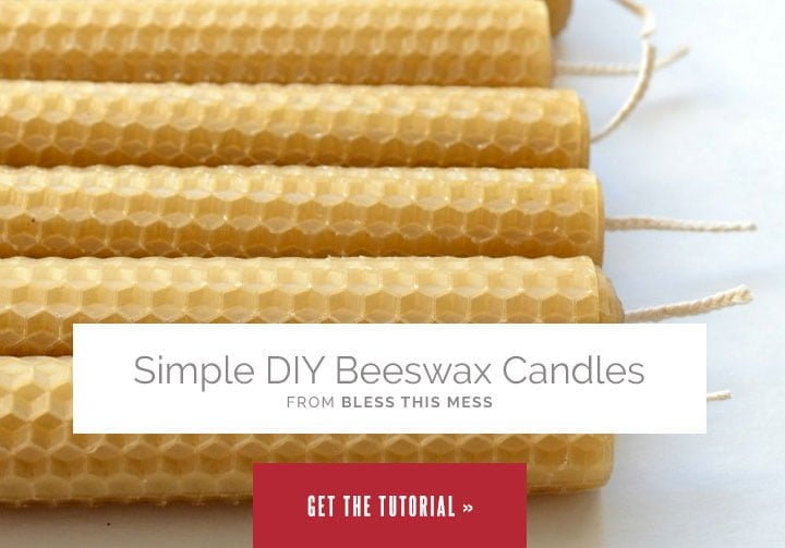 Simple DIY Beeswax Candles from Bless This Mess