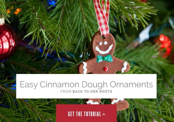 Easy Cinnamon Dough Ornaments from Wholefully