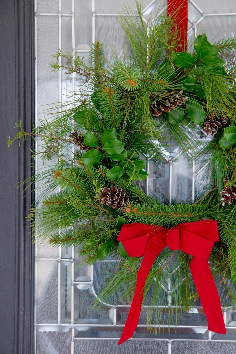 how to make a fresh greenery wreath wholefully