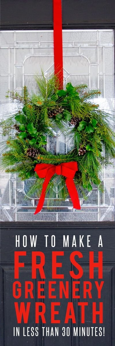 how to make a fresh greenery wreath - Fresh Christmas Greenery