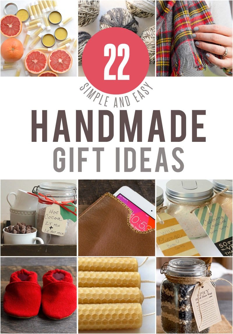 22 Simple and Easy Handmade Gift Ideas