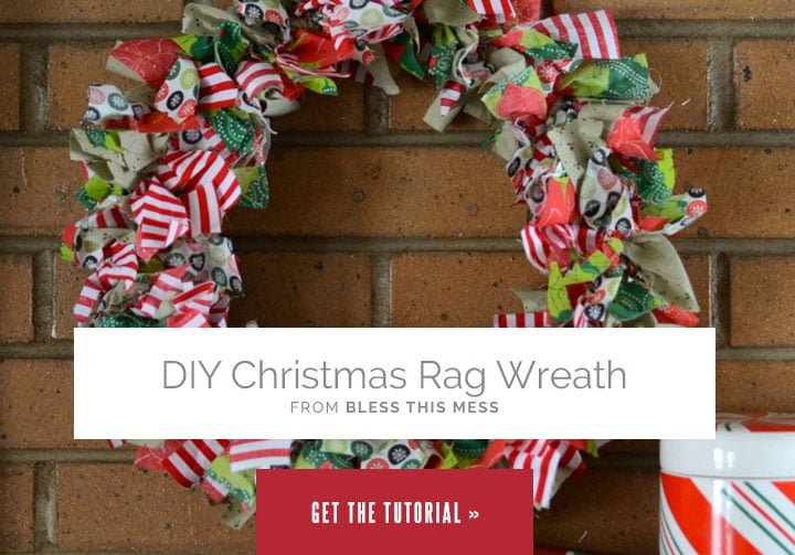 DIY Christmas Rag Wreath from Bless This Mess