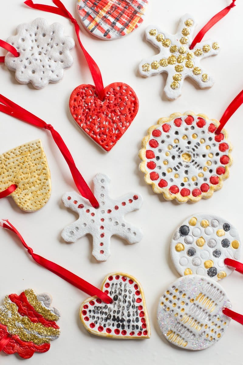 How To Make Christmas Tree Ornaments With Dough : How to make salt dough ornaments back her roots