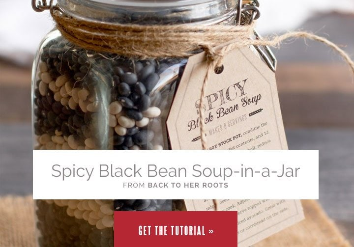 Spicy Black Bean Soup in a Jar from Wholefully