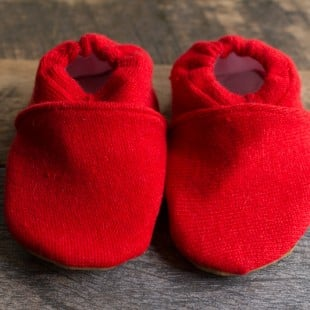 Easy Upcycled Sweater Baby Booties