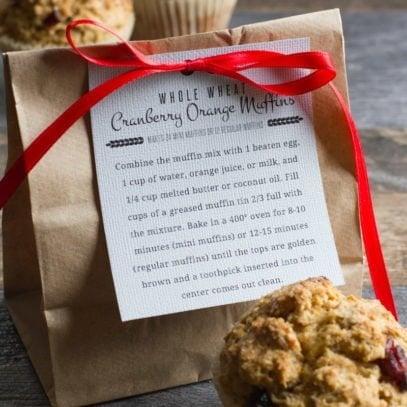 Whole Wheat Cranberry Orange Muffin Mix