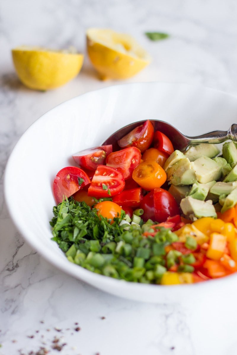 Avocado Bell Pepper Salad
